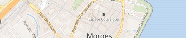 Karte Parking Centre Coop Les Charpentiers Morges