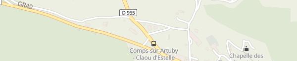 Karte Station Service Communale Comps-sur-Artuby