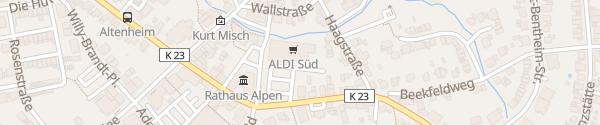 Karte Aldi Süd Alpen