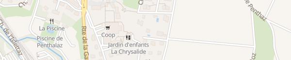 Karte Chemin Rouge Penthalaz