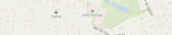 Karte Sportanlage La Cité de l'Eau Publier