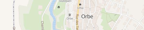 Karte Gare Orbe