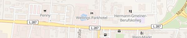 Karte Wellings Parkhotel Kamp-Lintfort