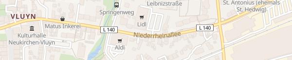Karte Lidl Neukirchen-Vluyn
