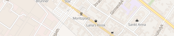 Karte Moritzplatz Krefeld