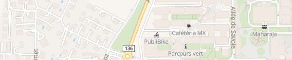 Karte EPFL Gebäude BC Ecublens