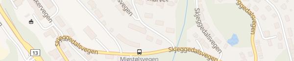 Karte Trolltunga Guesthouse Tyssedal