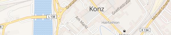 Karte E-Bike Ladesäule Rathaus Konz