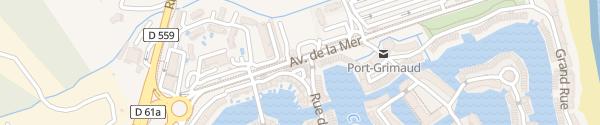 Karte Avenue de la Mer Grimaud
