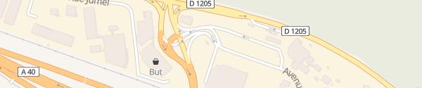 Karte Raststätte (Autoport) Cluses