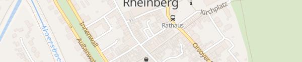 Karte Hotel Am Fischmarkt Rheinberg