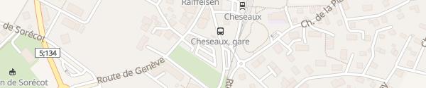 Karte Parking Grand-Pré Cheseaux Cheseaux-sur-Lausanne