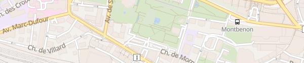 Karte Parking Lausanne Montbenon Lausanne