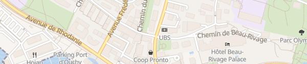 Karte Avenue d'Ouchy Lausanne