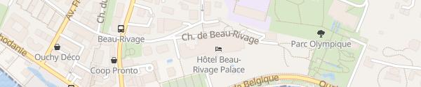 Karte Beau-Rivage Palace Lausanne