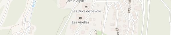 Karte Hôtel Les Airelles Saint-Bon-Tarentaise
