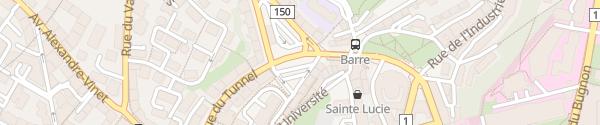 Karte Place du Tunnel Lausanne