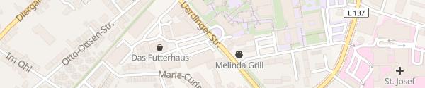 Karte ALDI Süd Uerdinger Straße Moers