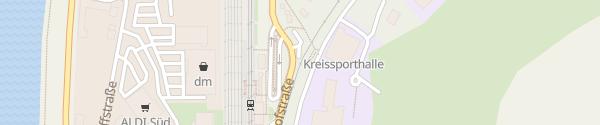 Karte Bahnhof Merzig