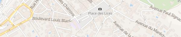 Karte Place du 15eme Corps Saint-Tropez