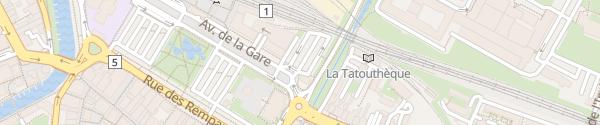 Karte Parking de la Gare Yverdon