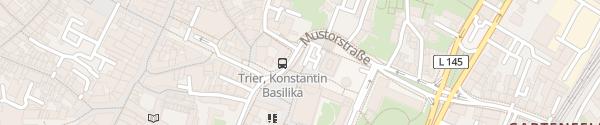 Karte Parkplatz Roter Turm Trier
