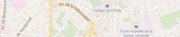 Karte Migros Lausanne Chailly Lausanne