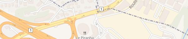 Karte P+R Vennes Lausanne