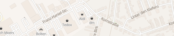 Karte ALDI Süd Franz-Haniel-Straße Moers