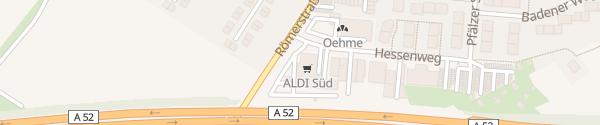 Karte ALDI Süd Meerbusch