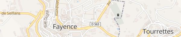 Karte Place Saint-Pierre Fayence