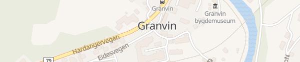 Karte Eidesvegen Granvin