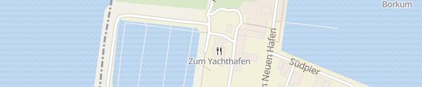 Karte Restaurant zum Yachthafen Borkum