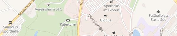 Karte Stadtwerke Saarlouis
