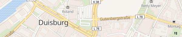 Karte Burgplatz Duisburg
