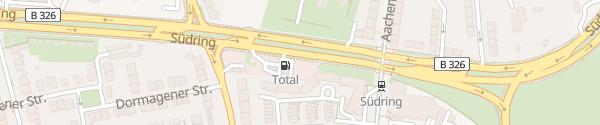 Karte Total Südring Düsseldorf