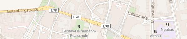 Karte Stadthaus Duisburg