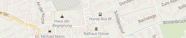 Karte Rathaus Hünxe