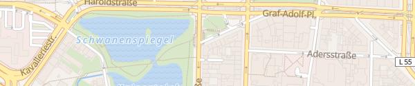 Karte HPC Graf-Adolf-Platz Düsseldorf