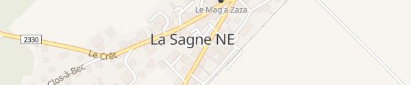 Karte Foyer de La Sagne La Sagne