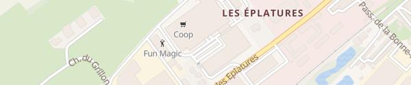 Karte Eplature Centre La Chaux-de-Fonds