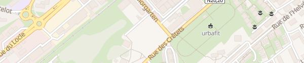 Karte Parking de la Bruyère La Chaux-de-Fonds