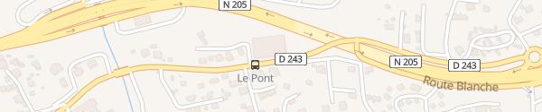 Karte RockyPop Les Houches