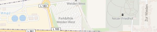 Karte P+R Weiden-West Köln