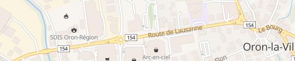 Karte Mehrzweckhalle Oron-la-Ville