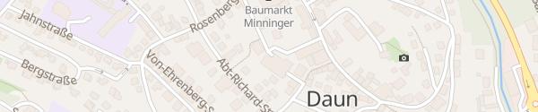 Karte Parkhaus Borngasse Daun