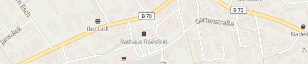 Karte E-Bike Ladestation am Rathaus Raesfeld