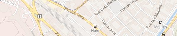 Karte Nestlé Vevey