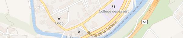 Karte Parking Avenue du Collège Boudry