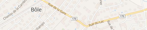 Karte Rue de la Gare Milvignes